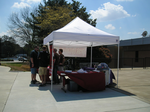 The other booth in the free speech area that prevented us from having a good meeting - Kennesaw State University, Atlanta Georgia